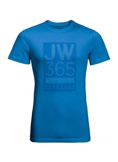 Jack Wolfskin 365 Tee Erkek T-Shirt - 1806621-1523 Mavi